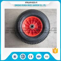 China PP Rim Heavy Duty Rubber Wheels Red Color , 2PR All Terrain Caster Wheels OEM wholesale