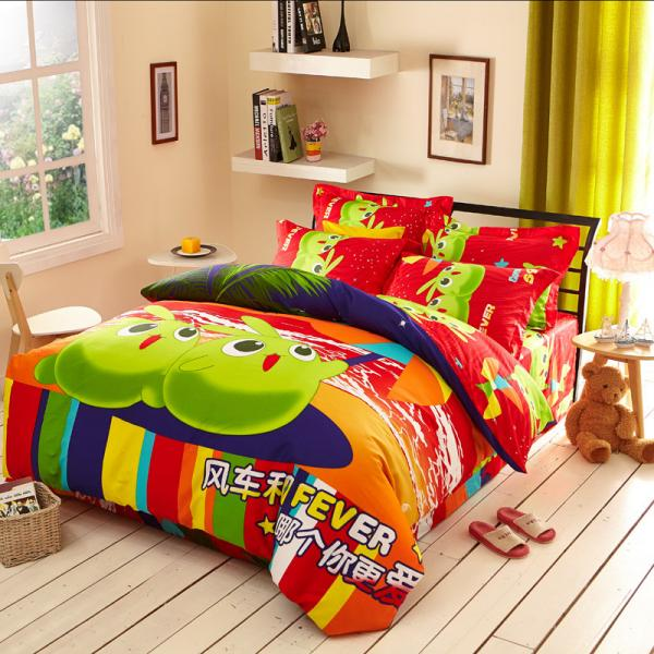 Quality Bamboo Reactive Printed 3d Duvet Cover Bedding Sets For Home Bedroom / Hotel for sale
