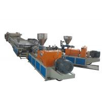 China WPC Foamed Sheet Plastic Extrusion line , Output 400Kg/h Two Conical Screw Extruders wholesale