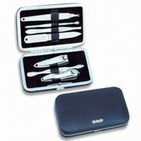China Stainless Steel Manicure Set, OEM Orders are Welcome, Ideal for Travelling and Promotional Gifts wholesale
