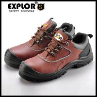 China Men's safety shoes with steel toe low cut work work shoes BROWN wholesale