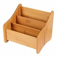 China Small Bamboo Office Supplies Wood Desk Organizer Storage Holder For Pen wholesale