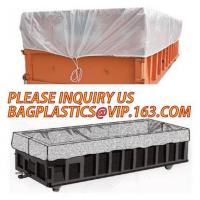 China Large durable drawstring dumpster container liner for garbage disposable,dump truck liner |plastic bed liners for dumpst wholesale