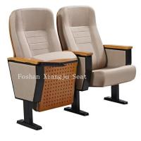 China Home Furniture Auditorium Theater Seating Wooden Back Cold Rolled Steel Feet wholesale