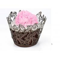 China Multi Colors Recycled Decorative Lace Wedding Cupcake Wrappers Hollow Design wholesale