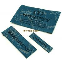 Customized Damask Woven Clothing Labels / Woven Garment Tags High Density