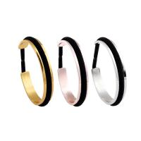 China Top Quality Promotion Gifts Cuff Bangle Hair Tie Bracelet fashion recessed bangles bracelets with elastic bands wholesale