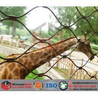 China Animal Mesh, Zoo Mesh, the flexible stainless steel rope mesh, Leopard Mesh Fence wholesale