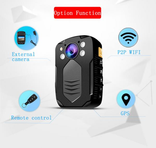 Quality IP65 Body Worn Camera With Video Output HDMI And AV Jack / Hidden LED White Light Police Camera for sale