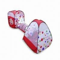 China Kid's Beach Tent, Made of Polyester, Available in Red and White wholesale