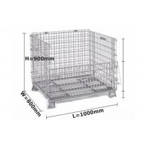 China Zinc / Chrome Plated Mesh Storage Cage Durable L1000 * W 800 * H 900 Mm wholesale
