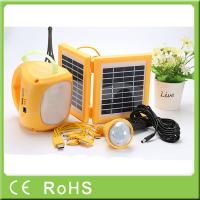 China High capacity quality rechargeable LED solar lantern with bulbs for emergency wholesale