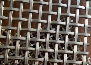 China Strong Operability 1*1inch Hole ISO9001 DecorativeMetalMesh Copper wholesale