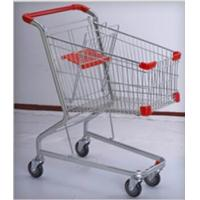 China PU Wheeled Grocery Shopping Trolley Powder Plated Climb Stairs Hand Cart wholesale