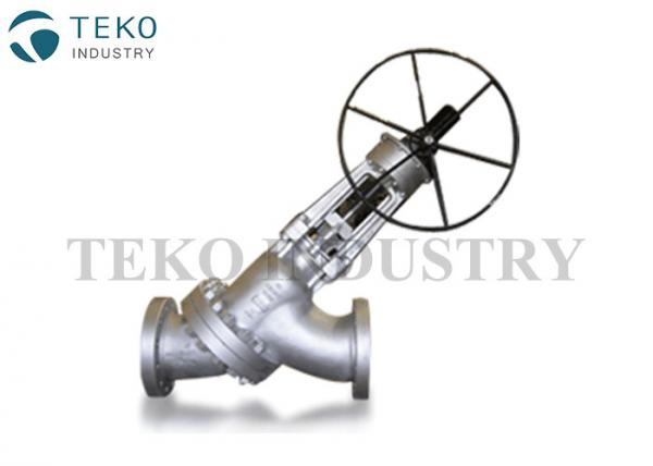 Quality Y Pattern Shape Carbon Steel Globe Valve With Excellent Resistance To Thermal Cycling for sale