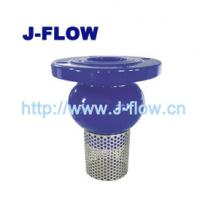 China Foot Vavle Ductile Cast Flange End Foot Valve With Strainer Ductile iron water pump flanged Foot Valve with strainer on sale