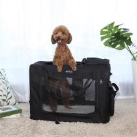 China Folding Songmics Pet Carrier  Foldable Easy Fit Outdorr Travel Water Resistant wholesale