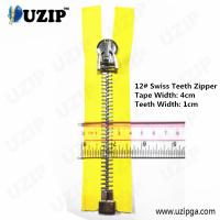 China Dark Anti Sliver No.12 Heavy Weight Metal Separating Zipper Big wholesale