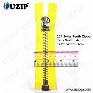 China Dark Anti Sliver No.12 Heavy Weight Metal Separating Zipper Big wholesale