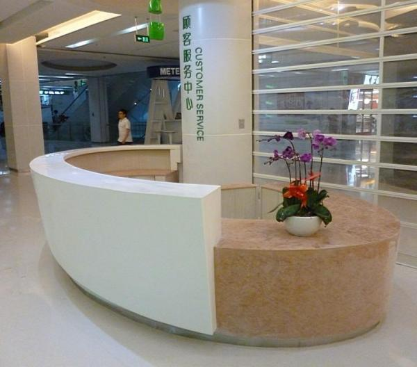 Solid Surface Stone Reception Counter Modern Shop Cash  reception counter hotel furniture images.