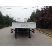 China 3 Axle 40/50/60 Ton Low Bed Trailer Truck , Flatbed Semi Trailer White Color wholesale