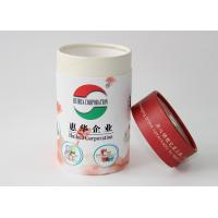 China Light weight Round Cardboard storage cylinder Tubes Food Packaging , paper tea cans wholesale