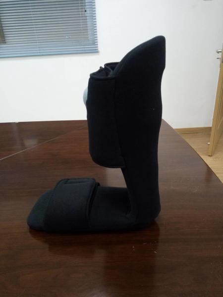 Quality Pneumatic 90 Degree Night Splint Black Color With Nylon , Plastic , Velvet Material for sale