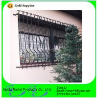China Ormental wrought iron metal bar iron window grill design wholesale