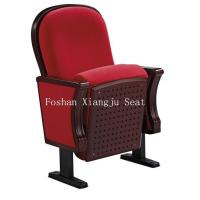 China PU Foam Wooden Lecture Hall Chairs Cold Rolled Steel Feet For Audience Seating wholesale