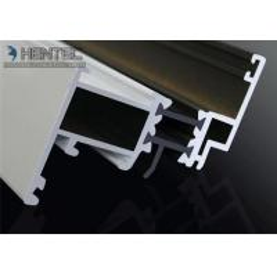 China Custom Extruded Aluminium Sliding Door Extrusions 6063 - T5 , White Powder Painting for sale