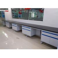 C - Frame Steel Lab Side Bench With High Temperature Resistance Ceramic Countertop