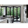 China 75 series aluminum bifold doors glass bifold doors folding doors wholesale