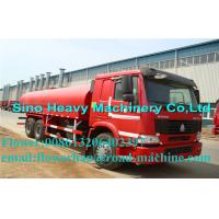 ZZ5257M3247N Green / Red / White Sinotruck Howo Water Tanker Trailer 25000L