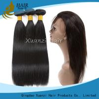 Buy cheap 8A/9A/10A360 Lace Frontal With Baby Hair Pre Plucked Afro Straight Closure 100% Remy Human Hair from wholesalers