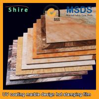 China PET Heat Transfer Film Hot Stamping Foil Roll With Strong Covering Power wholesale