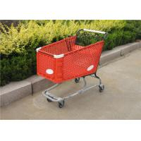 China Fashionable Plastic Shopping Trolley Plastic Grocery Carts With Baby Seat on sale