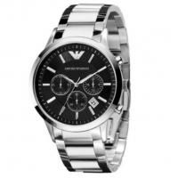 China Wholesale Emporio Armani  AR2434  AR2453 AR2448 Chronograph Black Dial Steel 42mm Mens Watch wholesale