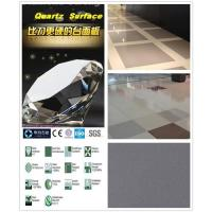 China 1600x3200 3cm dark grey quartz stone slab on sale
