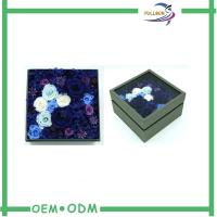Rigid Fresh Paperboard Flower Gift Boxes Square With Window