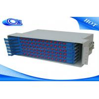 China Light Gray 48 Port Fiber Optic Patch Panel , Fiber Optic Splice Tray For FTTX Systems wholesale