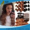 China Vague profonde colorée par Remy blonde de prolongements de cheveux de Vierge durable aucun rejet wholesale