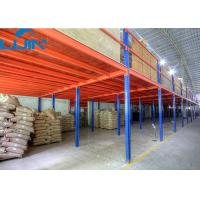 2 -levels Industrial Storage Rack Mezzanine Floors with Steel / Plywood Flooring