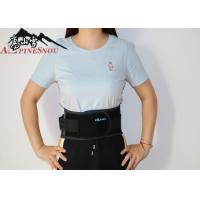 China Mesh Cloth Abdomen Waist Support Belt With Net Pocket Black Color wholesale