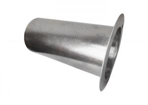 China 3mm Hole 2mm Thickness MeshFilterStrainer With Flange Silver wholesale