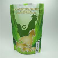 China Resealable Plastic Pouches Packaging , Zipper Pet Food Bag For Animal Supplement wholesale