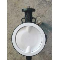 China White And Blue  PTFE lined butterfly valve ,  Ptfe Seat Butterfly Valve   Headless  Type DN40 - DN150 Size Customized wholesale