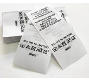 China Heat Transfer Swimwear Nylon Satin Wash Care Label / Heat Press Tagless Labels wholesale