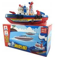 China Popular children's toys wholesale electric fireboat spraying water with light music model on sale