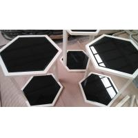 China Greenhouse Black Tempered Glass Tabletop , Tempered Plate Glass Hexagon on sale