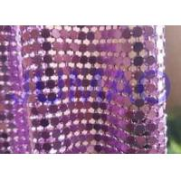 China Rust Proof Metal Sequin Fabric No Electrical Conductivity For Ceiling Decorations wholesale